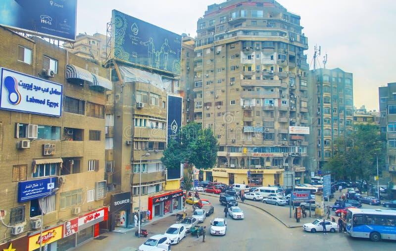 Lebanon Square, Giza, Egypt royalty free stock photos