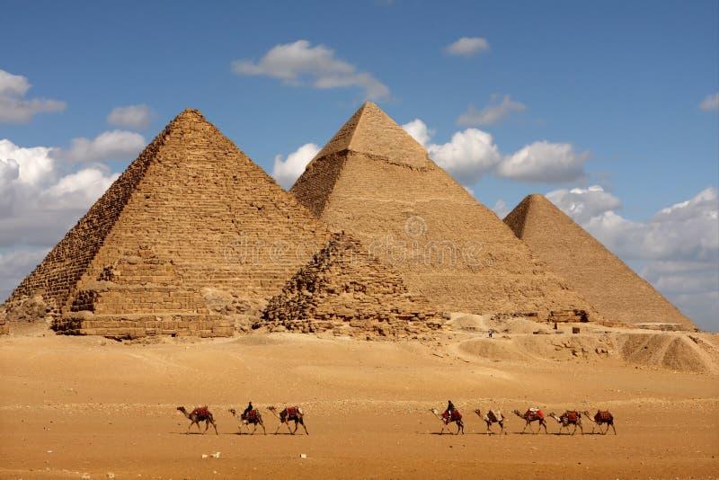 Giza ostrosłupy zdjęcia royalty free