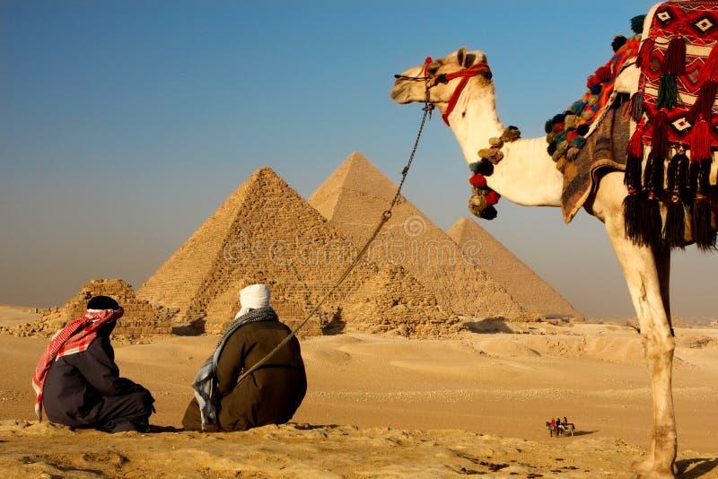 Giza ostrosłupy obraz stock