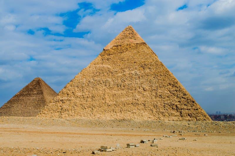 Giza ostrosłupy zdjęcie royalty free