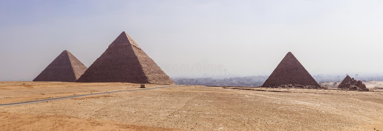 Giza panorâmico fotos de stock royalty free