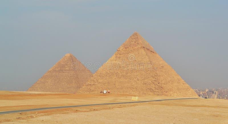 Giza Piramidy nell'Egitto fotografie stock