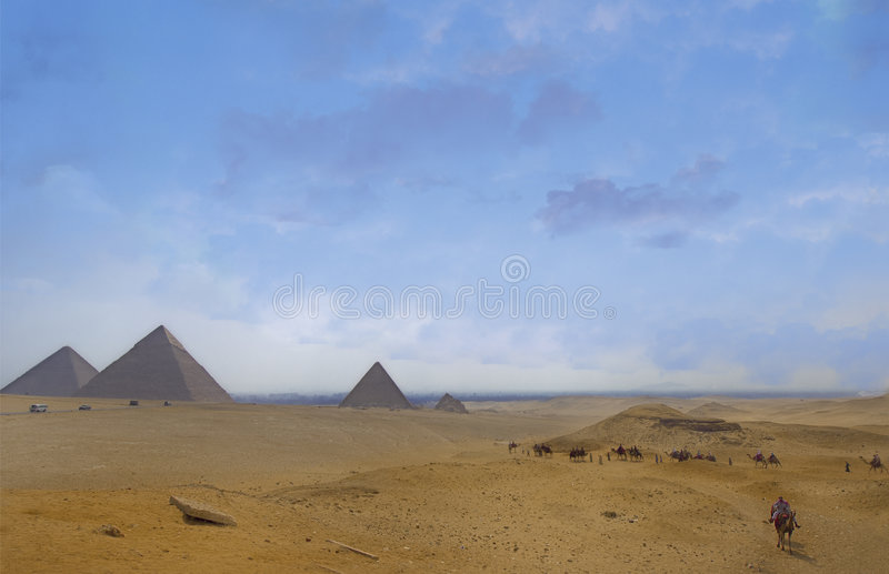 Giza plateau royalty free stock images