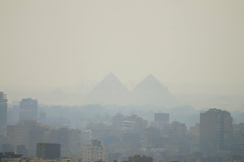 Giza plateau Kair, Egipt - obrazy royalty free