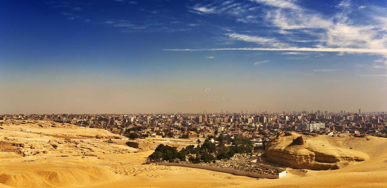 Download The Giza Plateau skyline stock image. Image of structure - 24478267