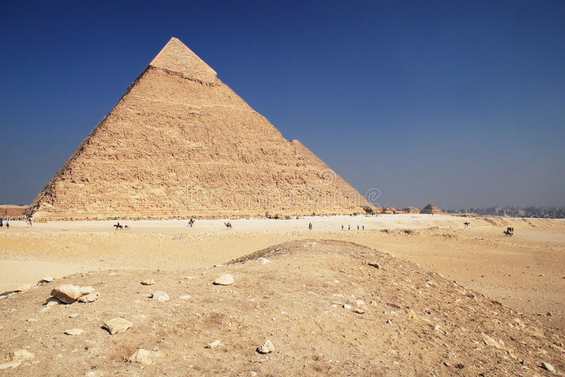 giza pyramid royaltyfri foto