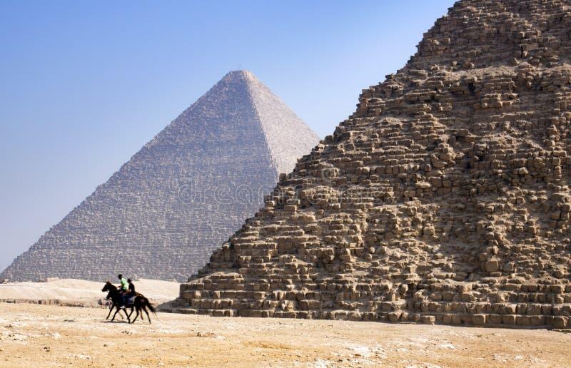 Giza-Pyramiden, Kairo, Ägypten lizenzfreie stockfotografie