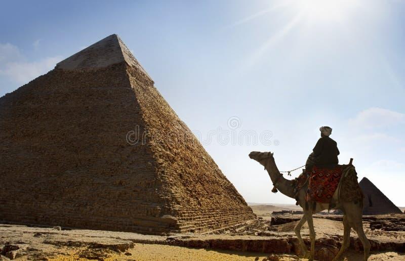 Giza-Pyramiden, Kairo, Ägypten stockbild