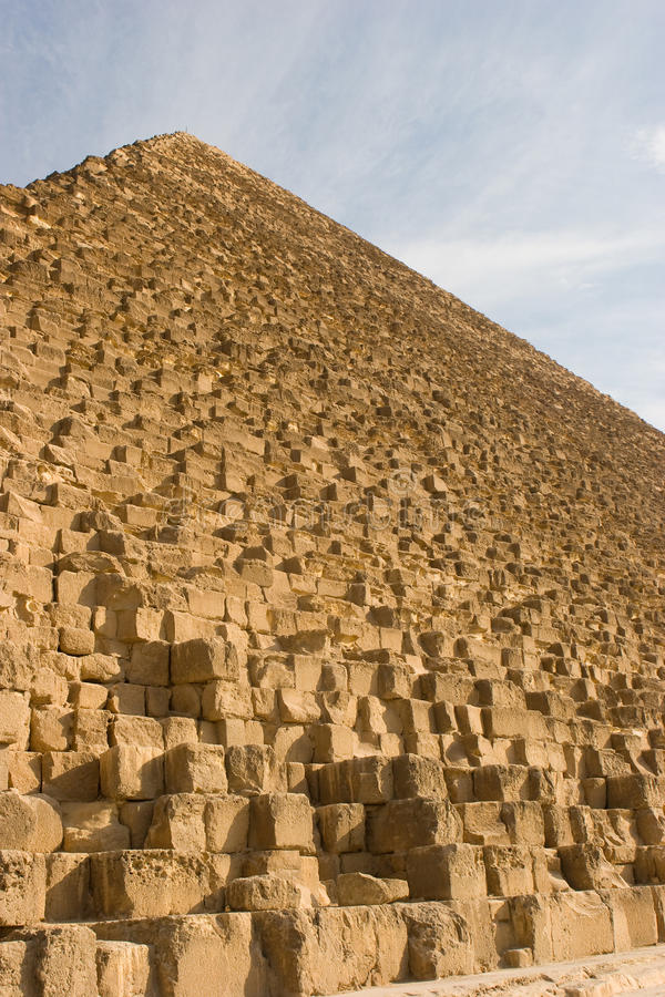 Giza pyramids. Ancient Giza pyramids in Egypt royalty free stock photos