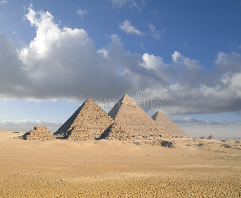 Giza Pyramids royalty free stock photos