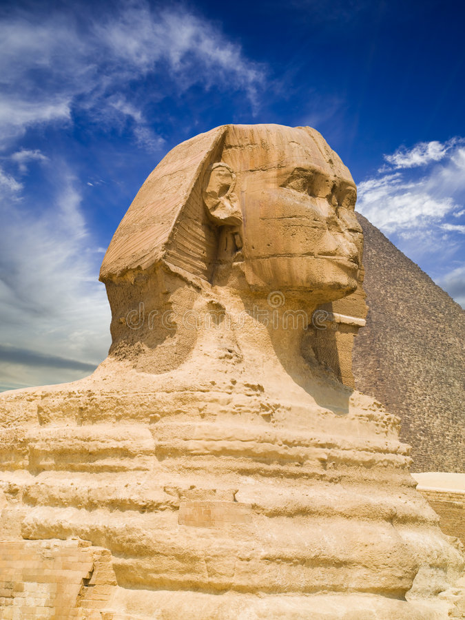 giza sphinx arkivfoto