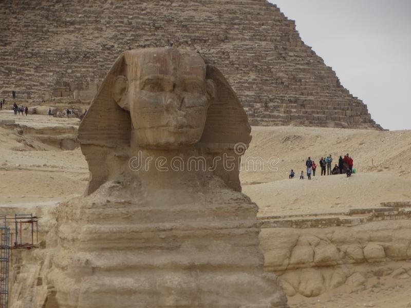 Giza Sphinx and Pyramids, Egypt stock images