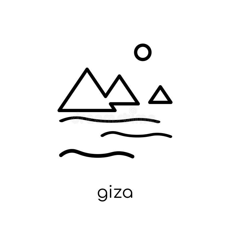 Gizapictogram In modern vlak lineair vectorgiza-pictogram op witte B stock illustratie
