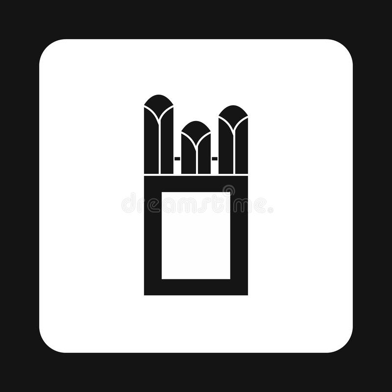 Gizes no ícone da caixa da caixa, estilo simples ilustração stock