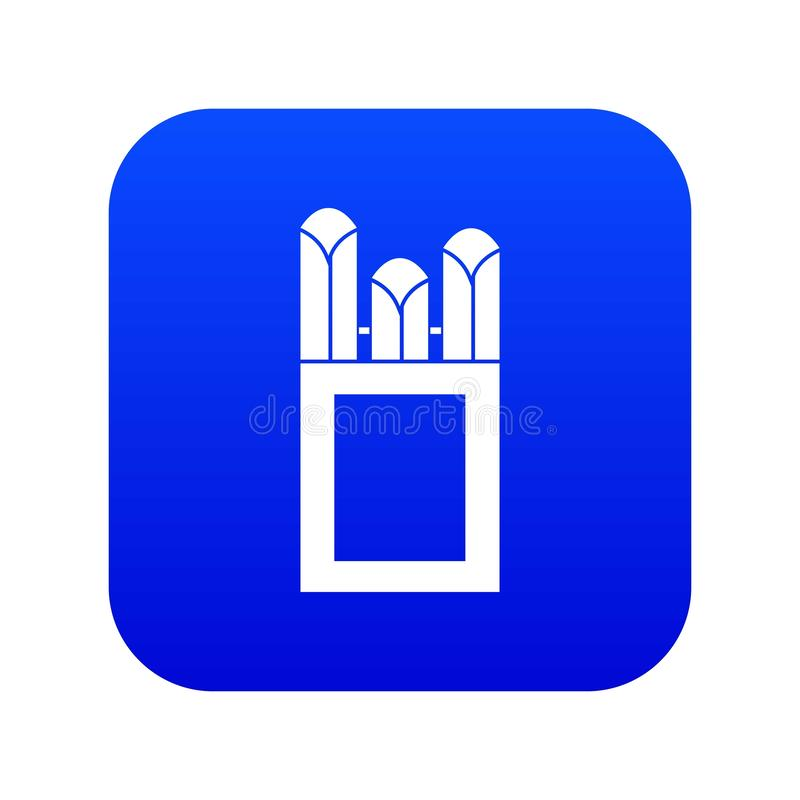 Gizes no azul digital do ícone da caixa da caixa ilustração stock
