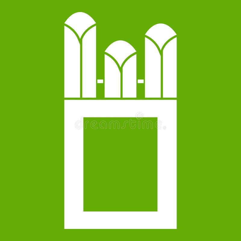 Gizes no verde do ícone da caixa da caixa ilustração do vetor