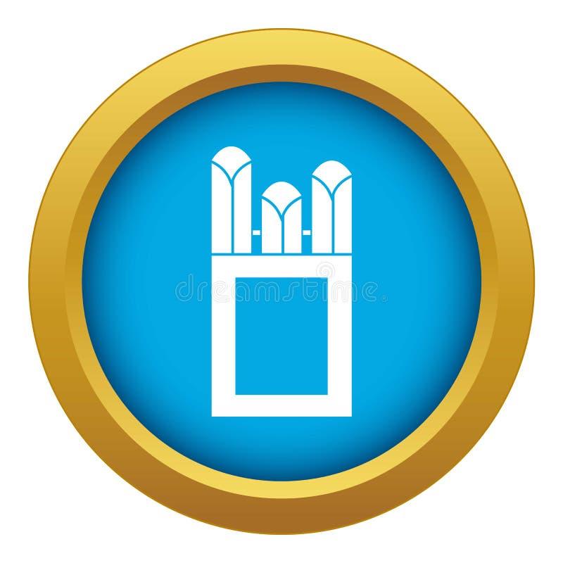 Gizes no vetor azul do ícone da caixa da caixa isolados ilustração stock