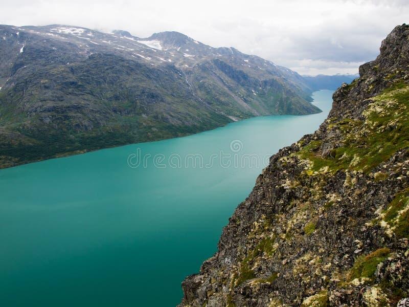 Gjende lake, Jotunheimen NP, Norway stock photography
