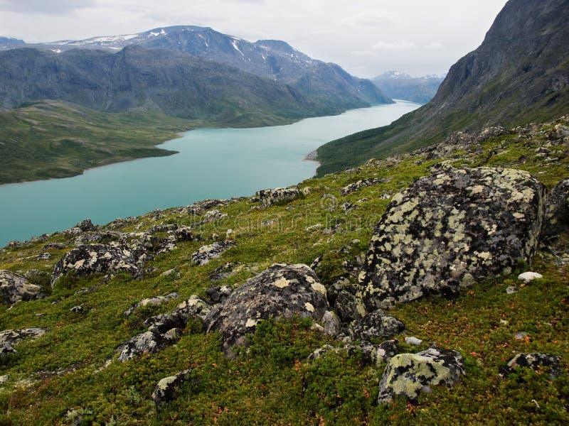 Gjende lake, Jotunheimen NP, Norway stock image