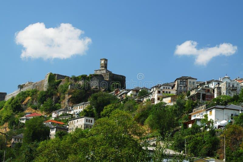 Gjirokast�r城堡 免版税图库摄影