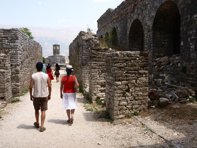 Gjirokastra城堡(2) 图库摄影