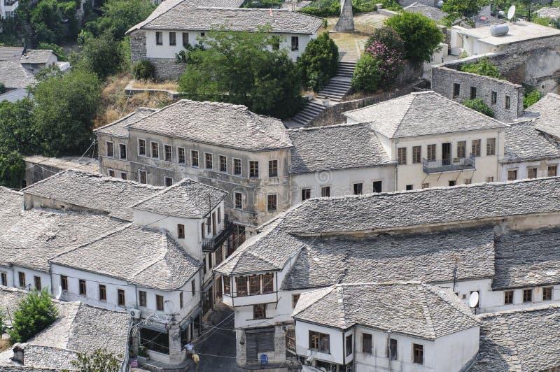 Gjirokastra瞥见阿尔巴尼亚欧洲 免版税图库摄影
