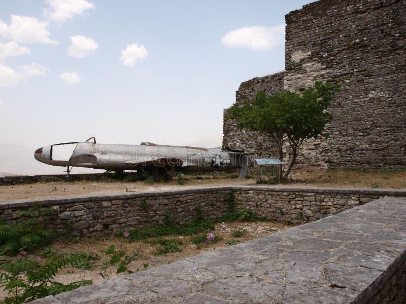 Gjirokastra,飞机 库存图片