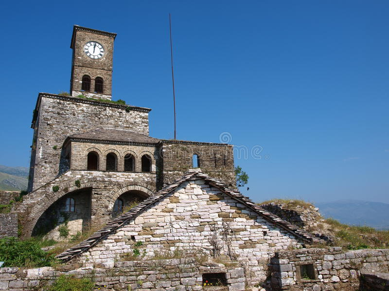 gjirokastra κάστρων της Αλβανίας στοκ φωτογραφίες