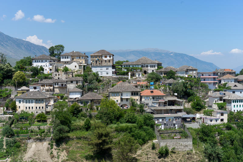 Gjirokastra στην Αλβανία στοκ εικόνα