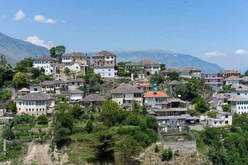 Gjirokastra in Albanië stock afbeelding