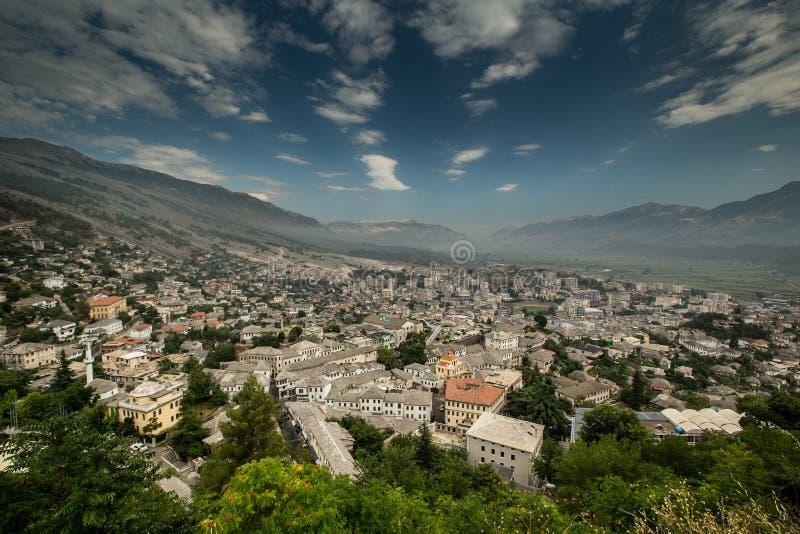 Gjirokastra Albanien royaltyfria bilder