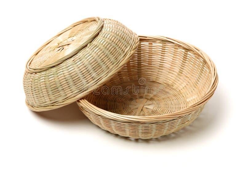 Gjord bambukorghand - arkivfoton