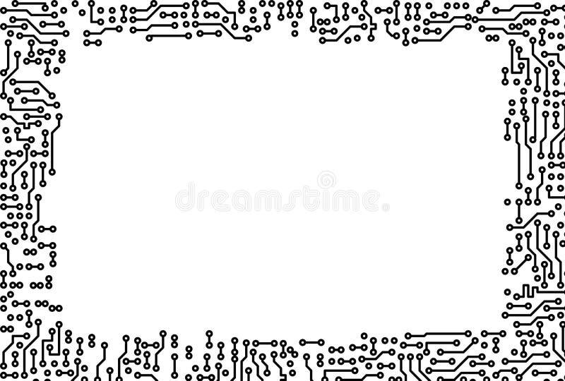 gjord elektronisk ram för delar royaltyfri illustrationer
