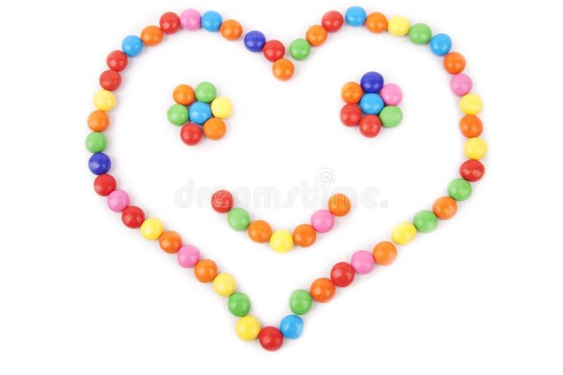 gjord färgrik hjärta för godis royaltyfri fotografi