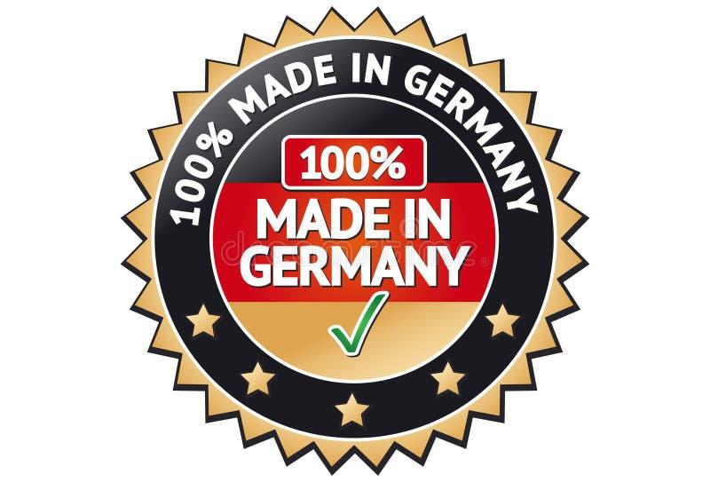 gjord germany etikett royaltyfri illustrationer