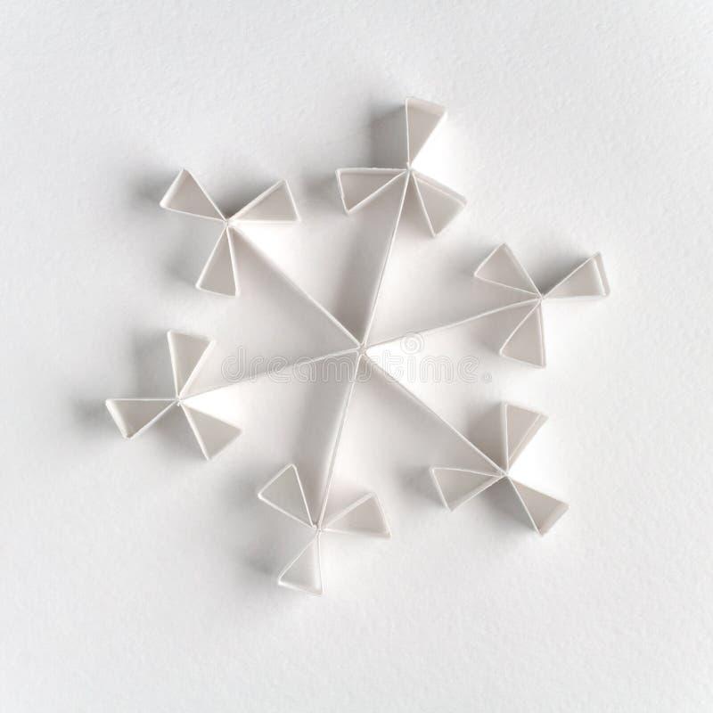 gjord paper snowflake arkivfoto