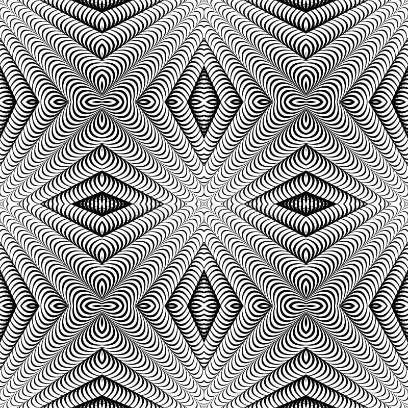 Gjord randig modell för design sömlös diamant. Abstrakt begrepp  vektor illustrationer