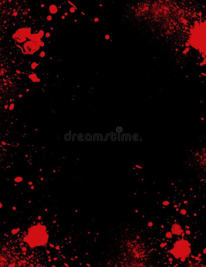 gjord splatter för blod kant stock illustrationer