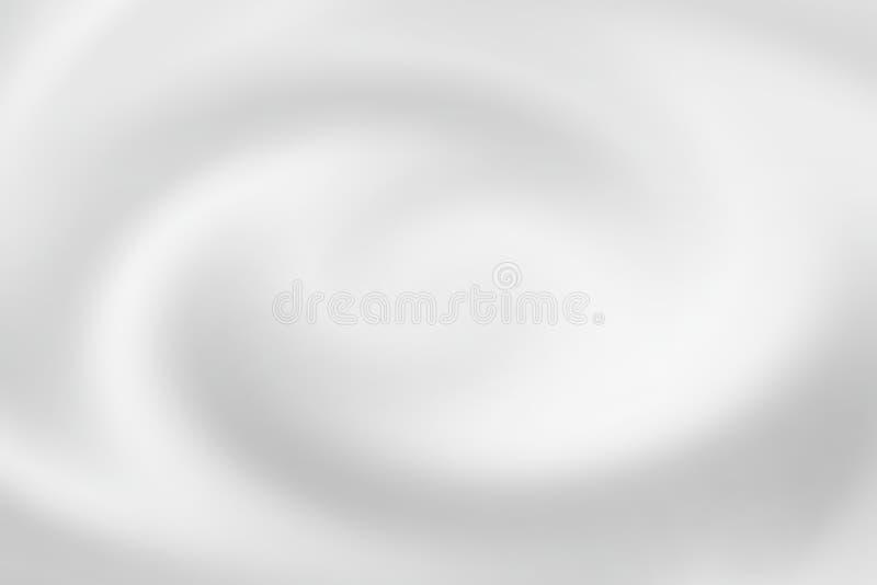Gjord suddig spiral för vitt vatten med vätskekrusningen, mjuk bakgrundstextur royaltyfri illustrationer