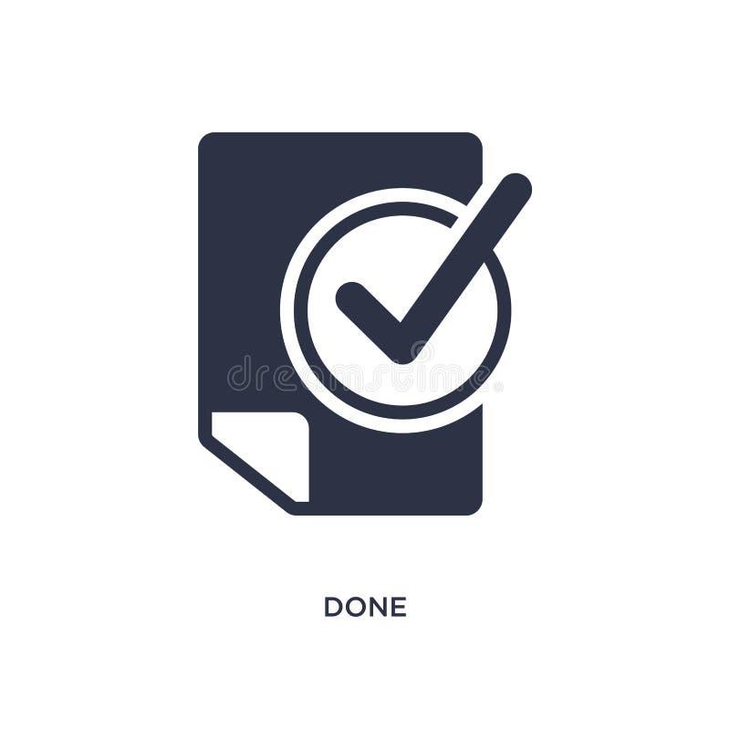 gjord symbol på vit bakgrund Enkel beståndsdelillustration från produktivitetsbegrepp royaltyfri illustrationer