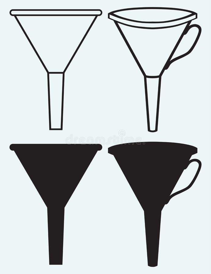 Gjord tratt vektor illustrationer