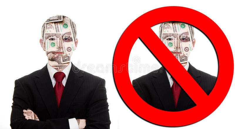gjorda pengar inte royaltyfri bild