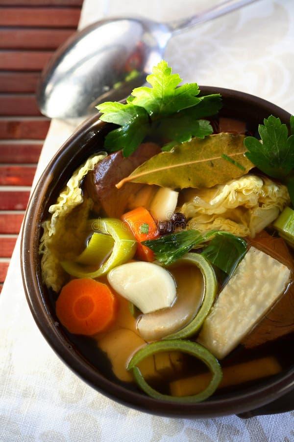 gjorda soupgrönsaker arkivbilder
