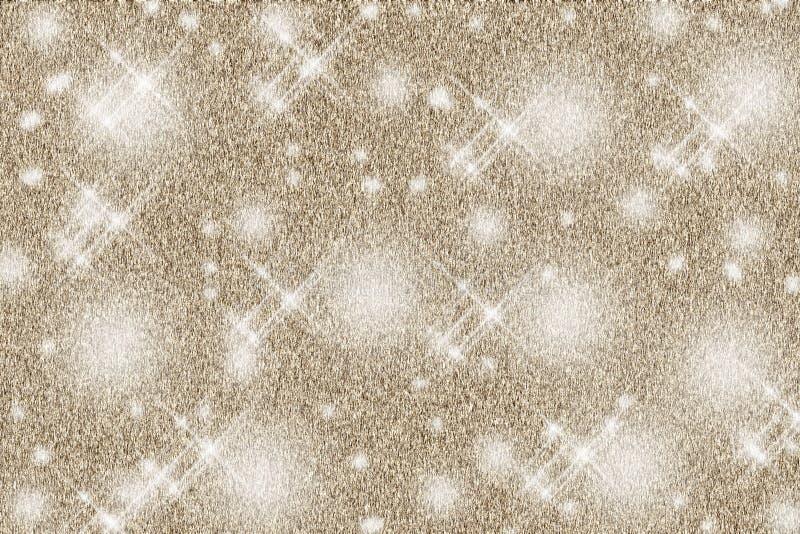 Gjorda suddig Bokeh på julbakgrund med blinkande stjärnor stock illustrationer