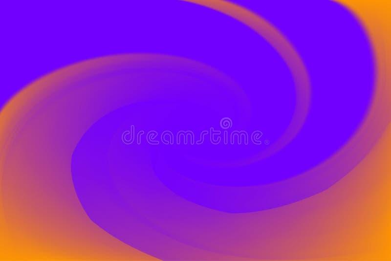 Gjorda suddig purpurfärgade och orange färger vrider färgrik effekt för vågen för bakgrund, illustrationlutning i regnbåge för vi royaltyfri illustrationer