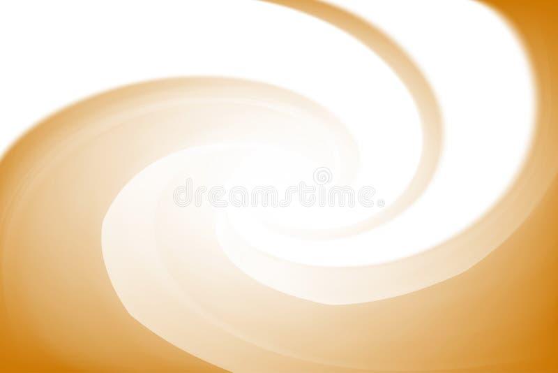 Gjorda suddig vita och guld- färger vrider färgrik effekt för vågen för bakgrund, illustrationlutning i virvel för konst för vatt stock illustrationer