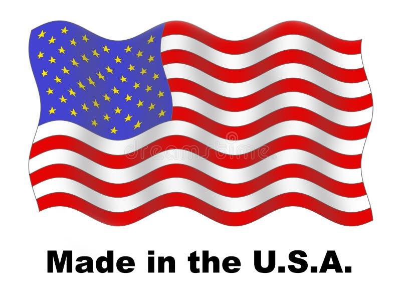 gjorda USA royaltyfri illustrationer