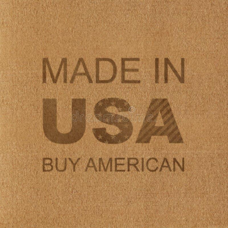 gjorda USA amerikansk buy Inskrift på pappen arkivfoto