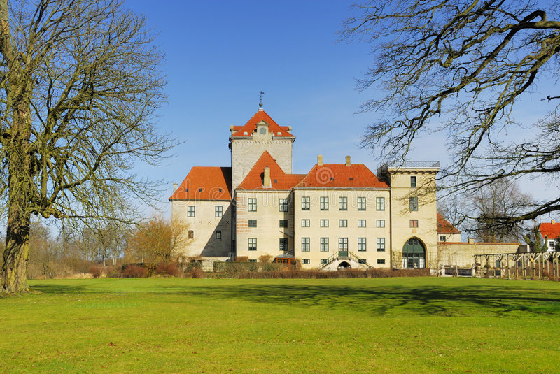gjorslev замока стоковая фотография