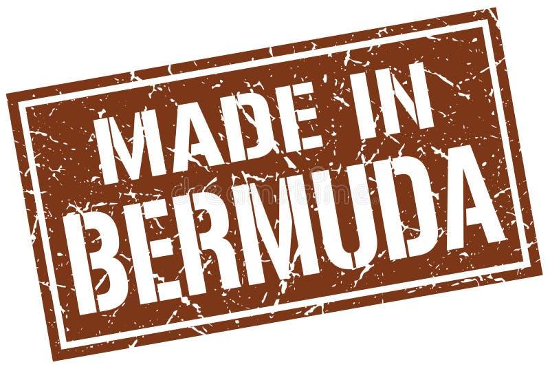 Gjort i den Bermuda stämpeln royaltyfri illustrationer